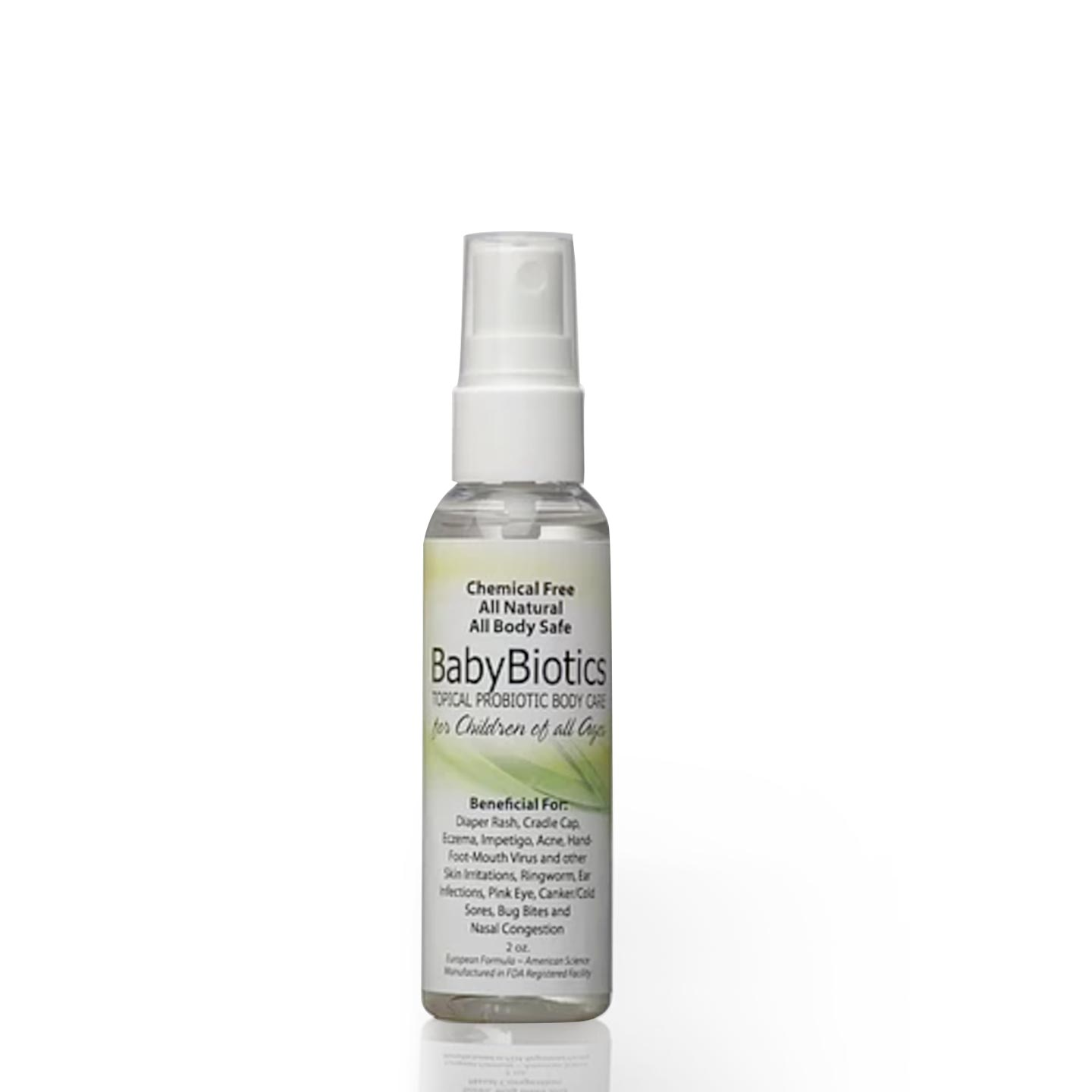 BabyBiotics - Natural Probiotics Skin Care Spray for Children of All Ages | Siani Skin Care Probiotic