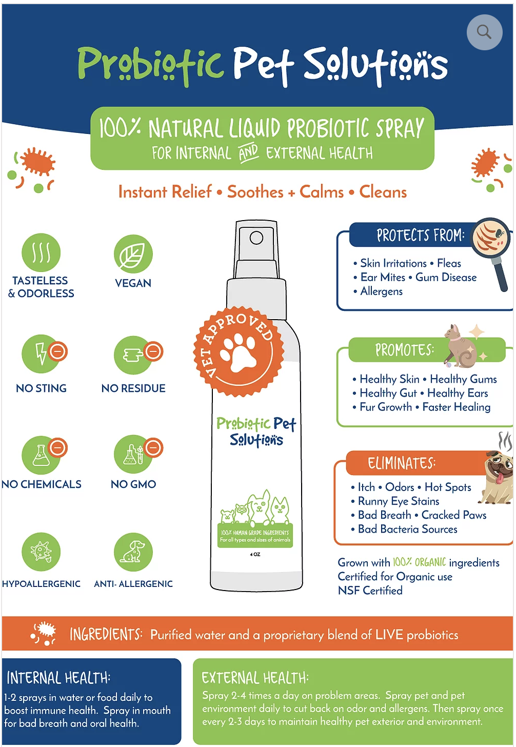 probiotic pet solutions infographic
