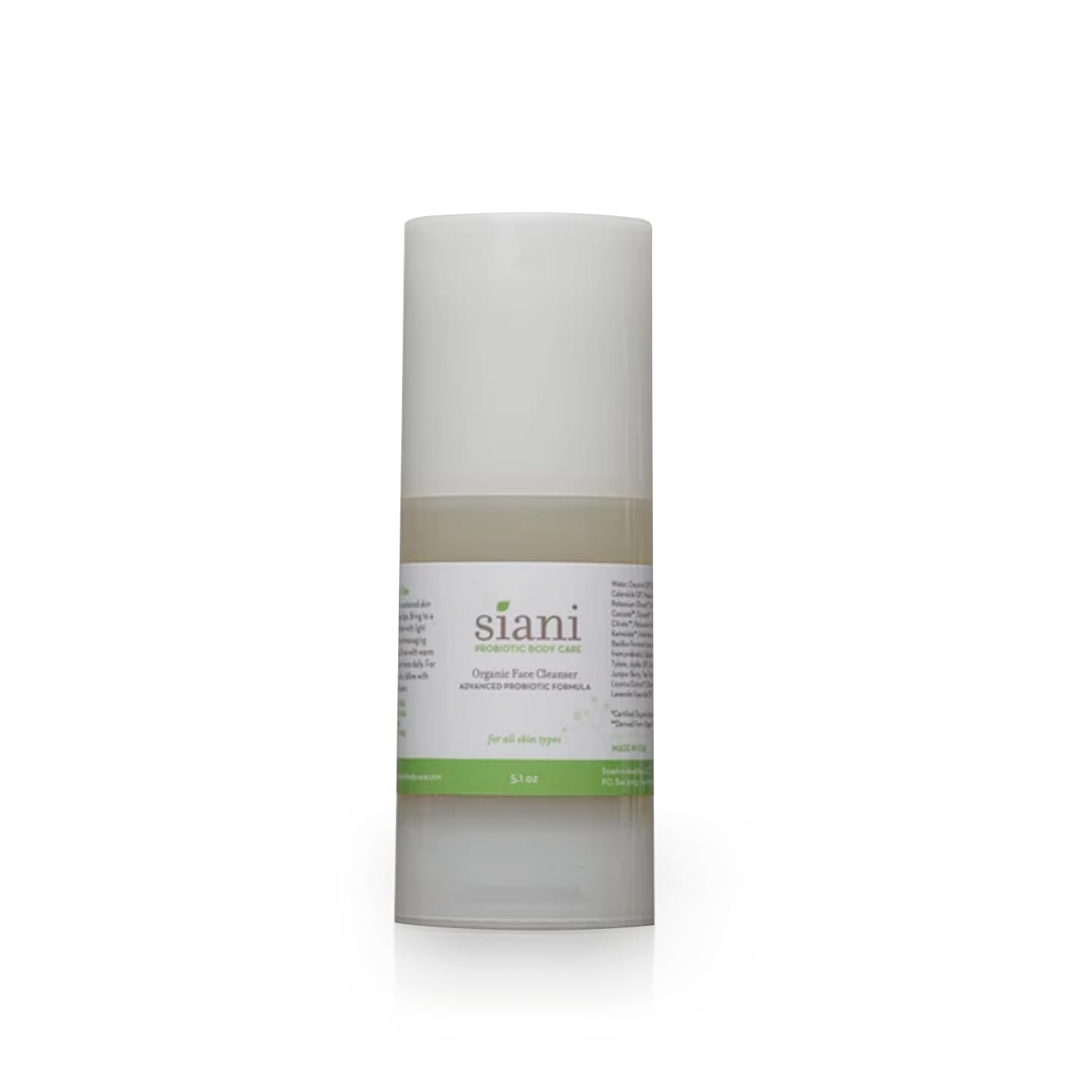 Natural Probiotic Face Cleanser Probiotics | Siani Probiotic Body Care