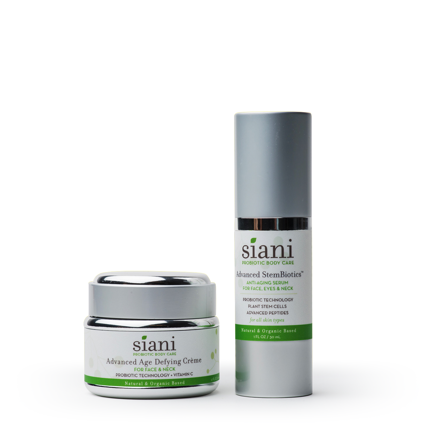 Natural Probiotics Advanced Anti-Aging Skin Care Duo | Siani Probiotic Body Care