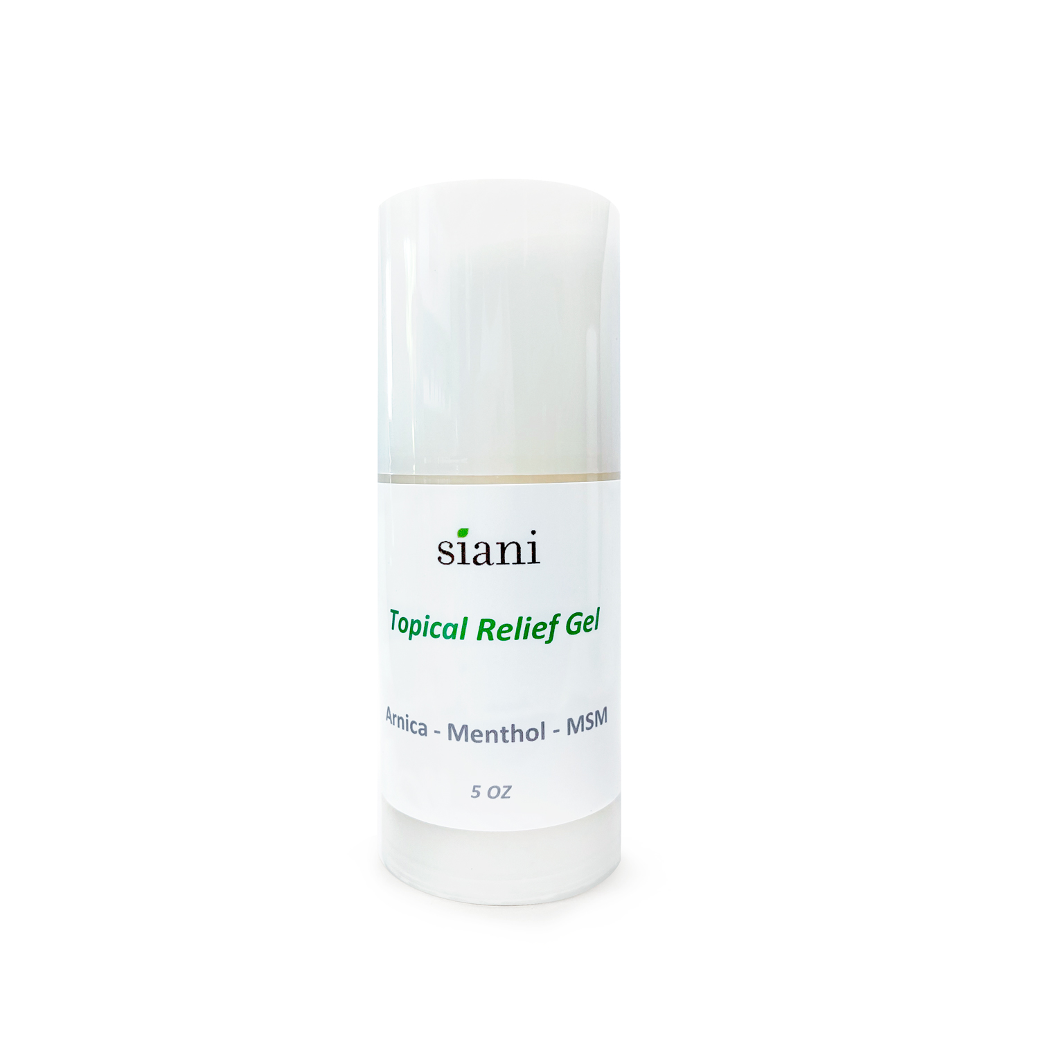 Topical Relief Gel - Our Topical Relief Gel with Arnica, Menthol, MSM helps relieves pain, improves mobility and reduces stiffness. 98% Natural and 70% Organic. | Siani Probiotic Body Care