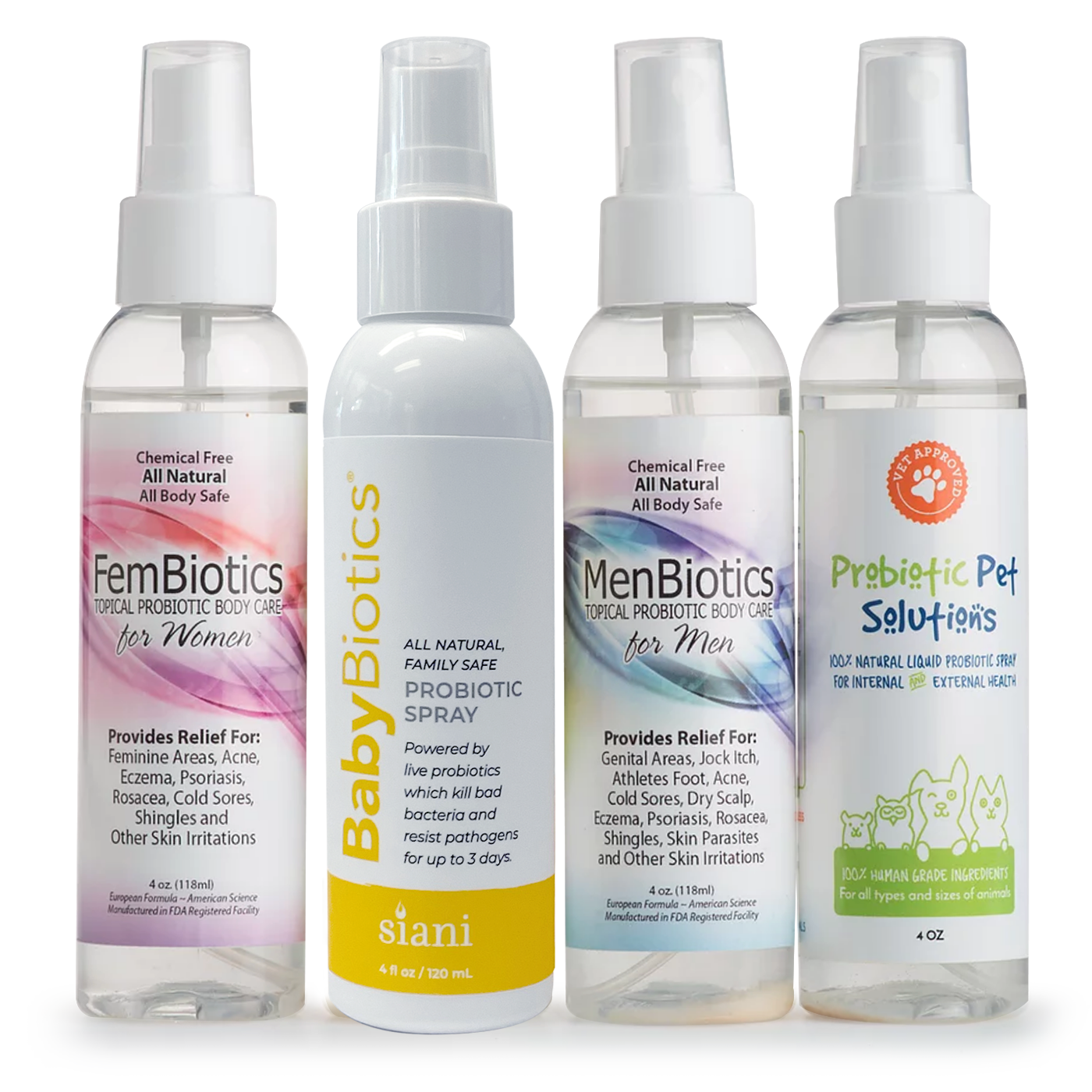 Natural Probiotics Sprays | Siani Probiotic Body Care